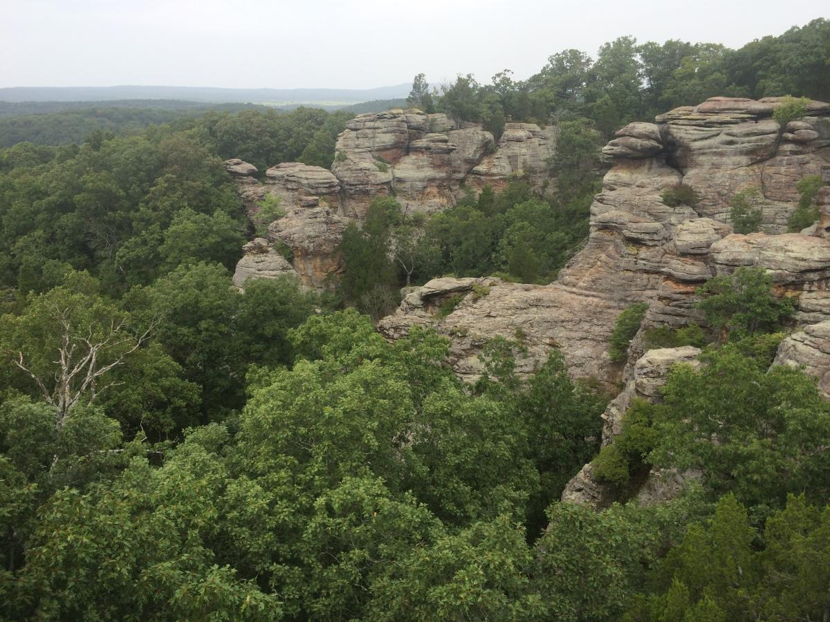 Shawnee national forest hot spot leave no trace Directions to garden of the gods illinois