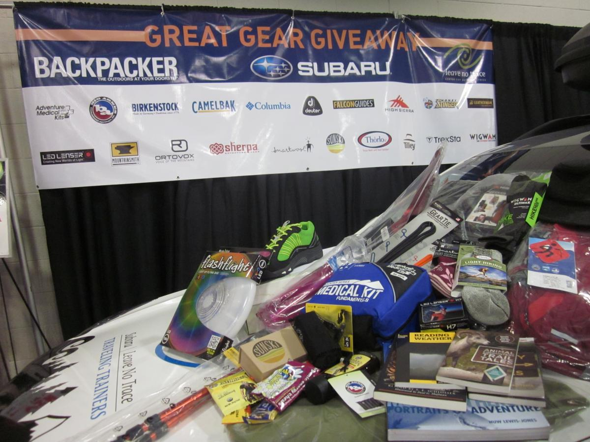 The Great Gear Giveaway At Outdoor Retailer Leave No Trace