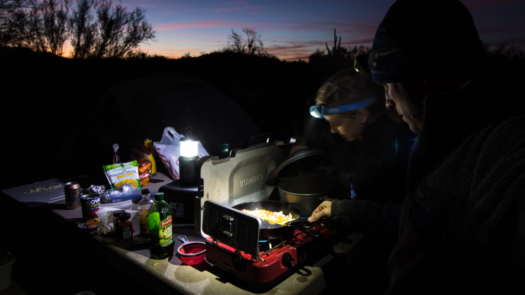 camp stove cooking Leave no trace