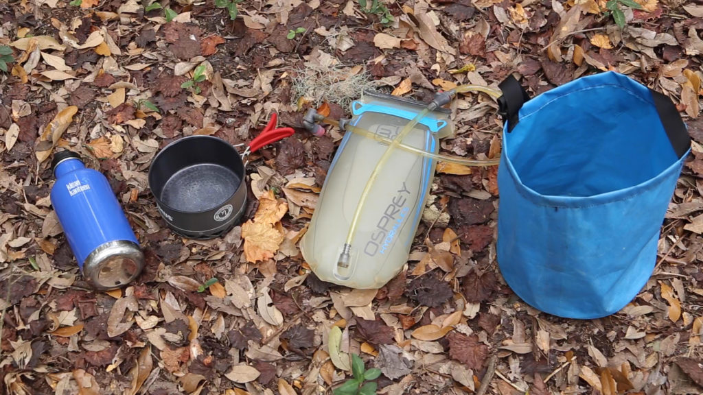 camp cooking hydration reservoir water bucket water bottle
